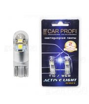 Светодиодная лампа CarProfi T10 6W 3LED OSRAM CHIP Active Light series, 180lm (блистер 2 шт.)