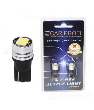 Светодиодная лампа CarProfi T10 4W 4LED 2835SMD Active Light series, 24V, 150lm (блистер 2 шт.)