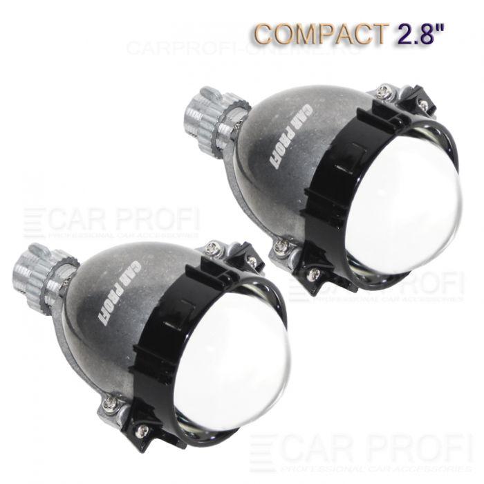 Светодиодные би-линзы CarProfi Bi LED Lens Сompact 2.8 дюйма, GPI, 5100k (к-т 2 шт.)