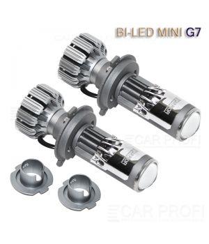 Светодиодные би-линзы CarProfi Bi-Led Mini G7 - 1 дюйм, 5000k, под цоколь H7 / H4 (к-кт 2шт.)