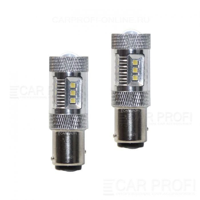 Светодиодная лампа CarProfi CP P21/5W 15W (BA15S, S25) SAMSUNG, 1157 - 2 контакта (4800K) 1 шт.