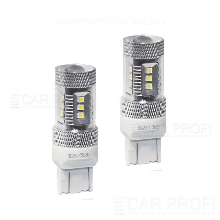 Светодиодная лампа CarProfi CP W21/5W 15W SAMSUNG, 7443 - 2 контактf (4800K) 1 шт.