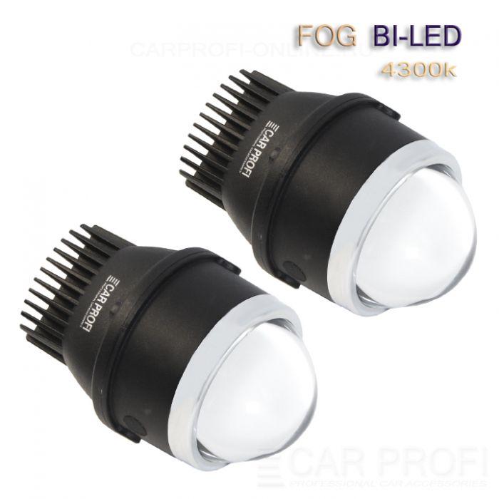 Светодиодные би-линзы в ПТФ CarProfi FOG Bi LED 3.0 дюйма, GENESIS, 4300k (к-т 2 шт.)