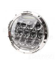 """Светодиодные фары CarProfi CP-LED-7""""-75W-RL Chrome, CREE, DRL (к-т 2 шт)"""