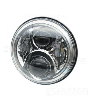 "Светодиодные фары CarProfi CP-LED-7""-60W-RD Chrome, CREE (к-т 2 шт)"