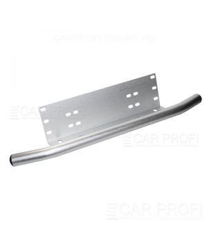 Алюминиевый кронштейн CarProfi CP-BRK-078-SV-ALM для крепления led фар над номерным знаком, хром с трубой