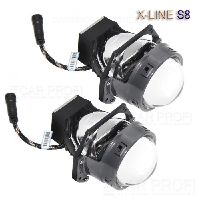 Светодиодные би-линзы CarProfi Bi LED Lens X-Line S8 DV, 3.0 дюйма, 5100k (к-т 2 шт.)