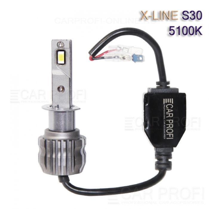 Светодиодные лампы CarProfi S30 H1 5100K X-line series, 30W, 4000Lm (к-т, 2 шт)