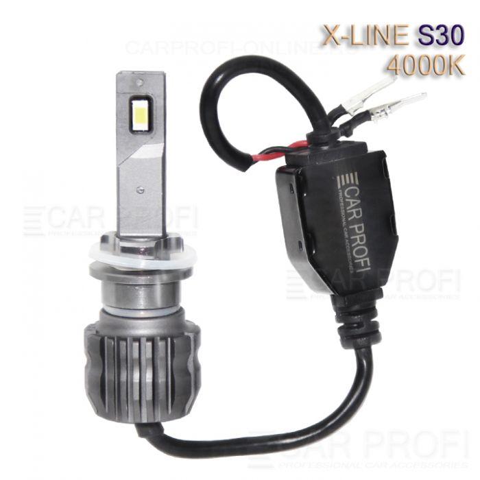 Светодиодные лампы CarProfi S30 H27 4000K X-line series, 30W, 4000Lm (к-т, 2 шт)