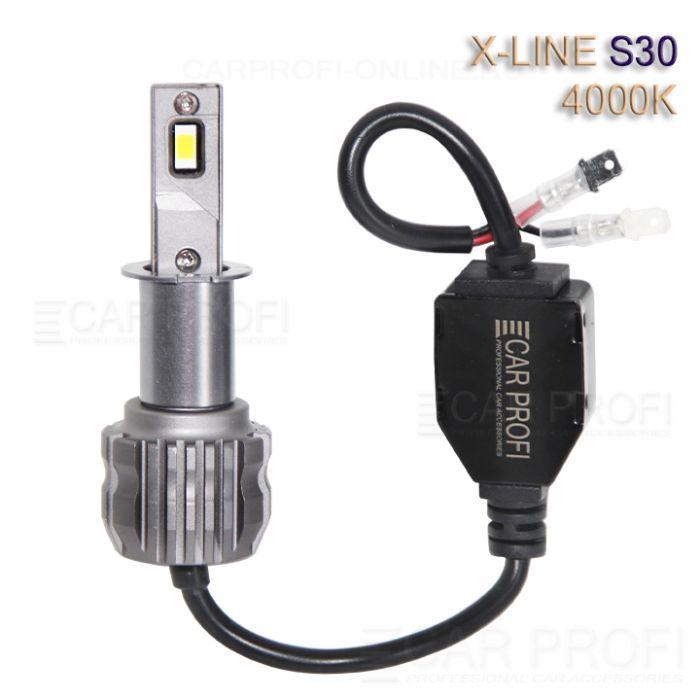 Светодиодные лампы CarProfi S30 H3 4000K X-line series, 30W, 4000Lm (к-т, 2 шт)