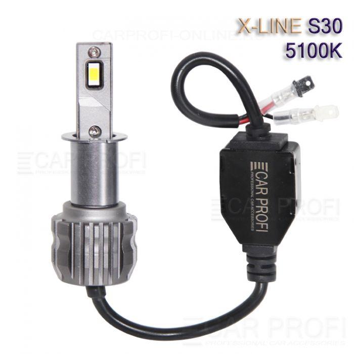 Светодиодные лампы CarProfi S30 H3 5100K X-line series, 30W, 4000Lm (к-т, 2 шт)