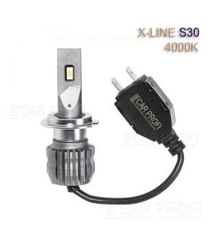 Светодиодные лампы CarProfi S30 H7 4000K X-line series, 30W, 4000Lm (к-т, 2 шт)