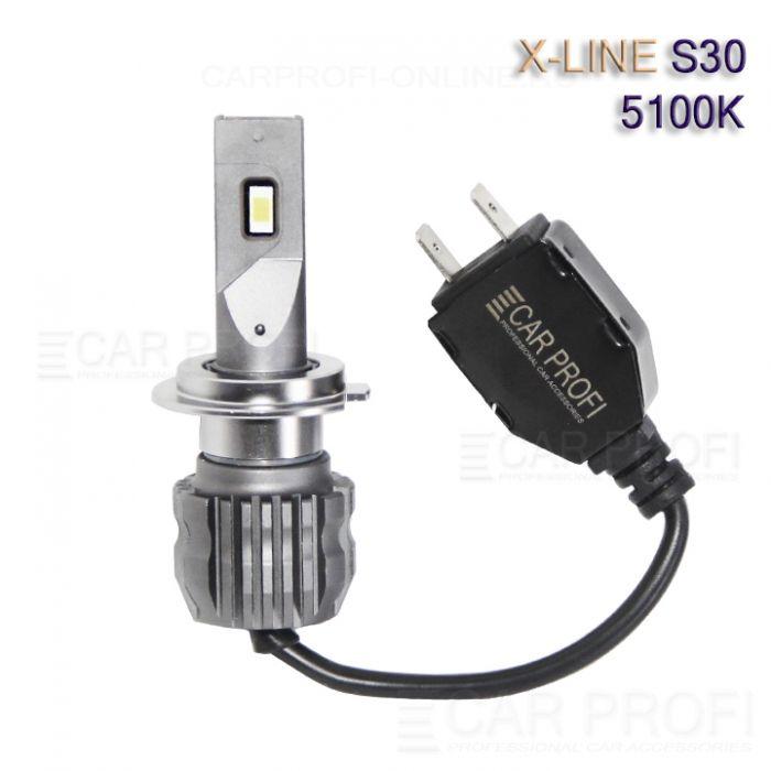 Светодиодные лампы CarProfi S30 H7 5100K X-line series, 30W, 4000Lm (к-т, 2 шт)