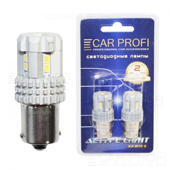 Светодиодная лампа CarProfi S25 (1156) 12W 12LED 3020SMD Active Light series, 12V, 550lm (блистер 2 шт.)