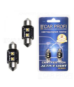Светодиодная лампа CarProfi FT 6W OSRAM SUPER CAN BUS, 31mm, Active Light series, цоколь C5W, 12V, 75lm (блистер 2 шт.)