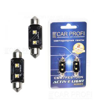 Светодиодная лампа CarProfi FT 6W OSRAM SUPER CAN BUS, 39mm, Active Light series, цоколь C5W, 12V, 75lm (блистер 2 шт.)