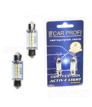 Светодиодная лампа CarProfi FT 8 SMD 3014, 36mm, Active Light series, цоколь C5W, 12V, 65lm (блистер 2 шт.)