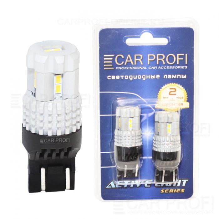 Светодиодная лампа CarProfi T20 (7443) 12W 12LED 3020SMD Active Light series, 12V, 550lm (блистер 2 шт.)