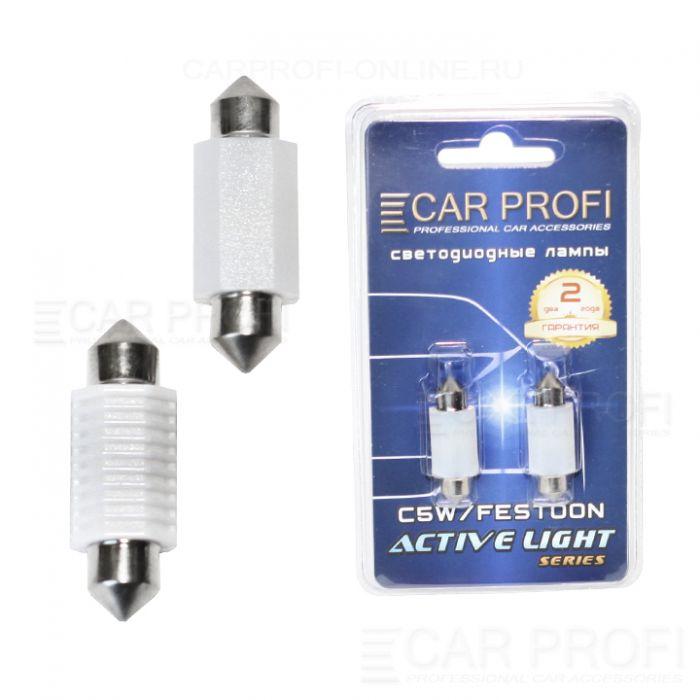 Светодиодная лампа CarProfi FT 2W CERAMIC CAN BUS, 36mm, Active Light series, цоколь C5W, 12-24V, 200lm (блистер 2 шт.)