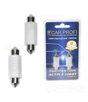 Светодиодная лампа CarProfi FT 2W CERAMIC CAN BUS, 39mm, Active Light series, цоколь C5W, 12-24V, 200lm (блистер 2 шт.)