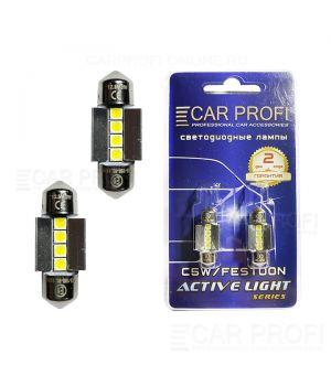 Светодиодная лампа CarProfi FT 4W SMD 3030 CAN BUS, 31mm, Active Light series, цоколь C5W, 12V, 230lm (блистер 2 шт.)