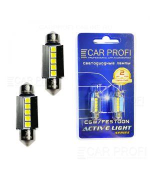 Светодиодная лампа CarProfi FT 5W SMD 3030 CAN BUS, 36mm, Active Light series, цоколь C5W, 12V, 260lm (блистер 2 шт.)