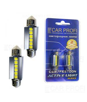 Светодиодная лампа CarProfi FT 6W SMD 3030 CAN BUS, 39mm, Active Light series, цоколь C5W, 12V, 280lm (блистер 2 шт.)
