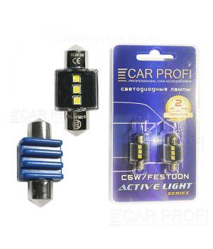 Светодиодная лампа CarProfi FT 3W SMD 3535 CAN BUS, 31mm, Active Light series, цоколь C5W, 12V, 300lm (блистер 2 шт.)