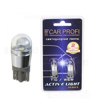Светодиодная лампа CarProfi T10-1-3030SMD, Active Light series, 1W, 12V, 80lm (блистер 2 шт.)