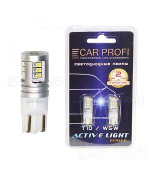 Светодиодная лампа CarProfi T10 15W, 15PCS 2016, Active Light series, с обманкой CAN BUS, 9-40V, 500lm (блистер 2 шт.)