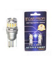 Светодиодная лампа CarProfi T10 5W, 12PCS 3014SMD, Active Light series, с обманкой CAN BUS, 12V, 200lm (блистер 2 шт.)
