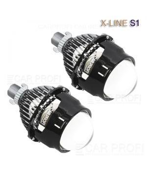 Светодиодные би-линзы CarProfi Bi LED Lens X-line S1, 2.5 дюйма, 5100k (к-т 2 шт.)
