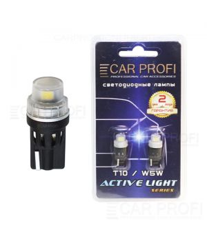 Светодиодная лампа CarProfi T10 2W 2LED 2835SMD Active Light series, 12V, 130lm (блистер 2 шт.)