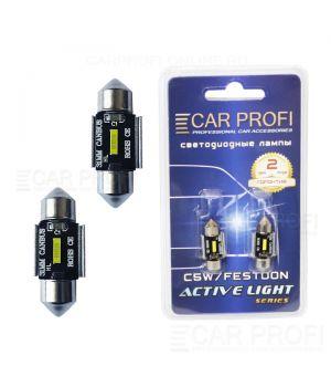 Светодиодная лампа CarProfi FT 15W CSP CAN BUS, 31mm, Active Light series, цоколь C5W, 12V, 450lm (блистер 2 шт.)