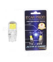 Светодиодная лампа CarProfi T10 3W, COB CHIP, Active Light series, 12V, 100lm (блистер 2 шт.)