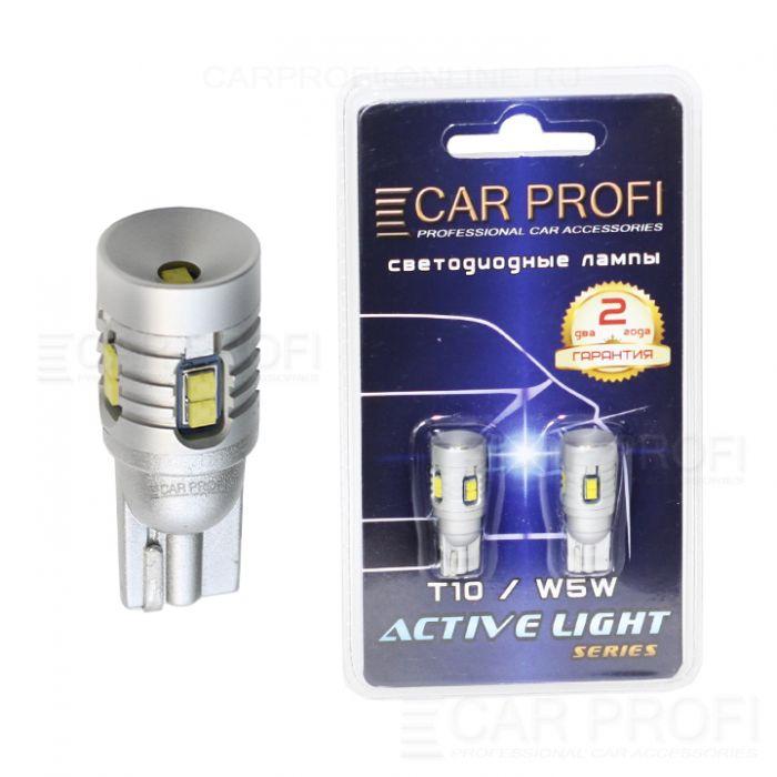 Светодиодная лампа CarProfi T10 27W, 9 LED, Active Light series, с обманкой CAN BUS, 9-40V, 670lm (блистер 2 шт.)