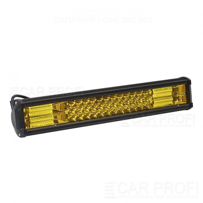 Светодиодная балка CarProfi CP-3R-GDN-252 Spot Yellow NEW 252W SMD 3030 дальний свет (желтое свечение)