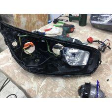 Пример установки светодиодных би-линз CarProfi Bi-LED2, 5100K в KIA Ceed 1.6 AT