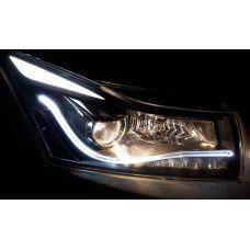 Пример установки ксеноновых ламп CarProfi Ceramic H7 3800K на Chevrolet Cruze
