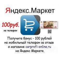 Оставь отзыв и получи 100 рублей на мобильный телефон.