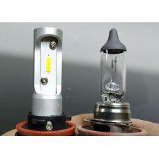 Фото - отчёт об установке светодиодных ламп CarProfi CP-X5 H11 (H8) CSP